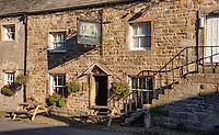 Hark to Bounty country public house, Slaidburn village, Clitheroe, Lancashire.