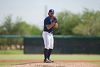 San Diego Padres pitcher Dan Dallas (37) prepares to deliver a pitch to the plate during an Instructional League game against the Chicago White Sox on September 26, 2017 at Camelback Ranch in Glendale, Arizona. (Zachary Lucy/Four Seam Images)