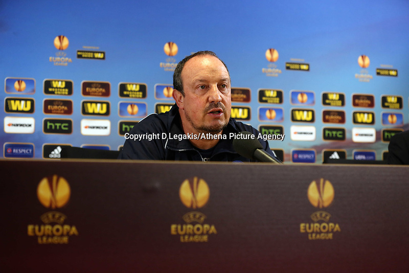 Napoli manager Rafa Benitez during the press conference.