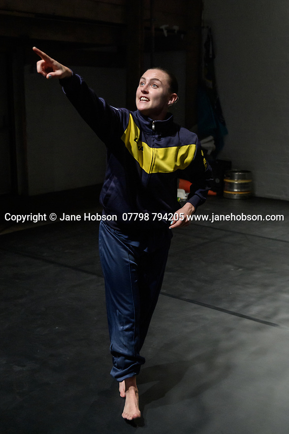 London, UK. 14.10.2019. Oona Doherty's HOPE HUNT, part of Dance Umbrella, at the Yard, 14th - 16th October 2019. Picture shows: Oona Doherty. Photograph © Jane Hobson.