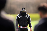 Head coach Francesco Guidolin during the Swansea City FC training at Fairwood training ground in Wales, UK on Wednesday 06 April 2016