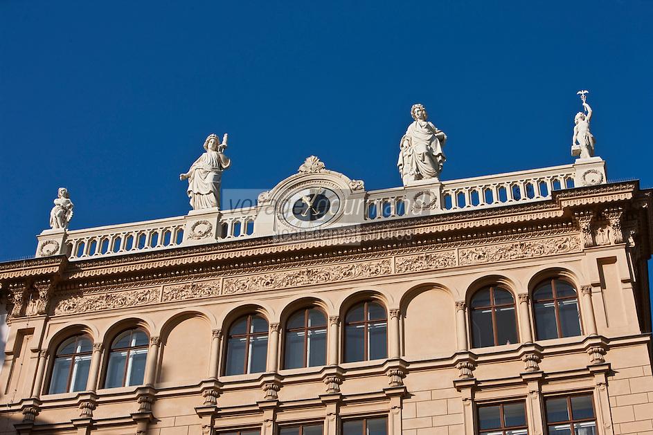 Europe/Autriche/Niederösterreich/Vienne: Détail façade de l'Immeuble sur le Graben de l' Epicerie et Restaurant Meinl am Graben