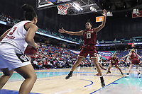 GREENSBORO, NC - MARCH 07: Taylor Soule #13 of Boston College defends an inbounds pass by Kai Crutchfield #3 of North Carolina State University during a game between Boston College and NC State at Greensboro Coliseum on March 07, 2020 in Greensboro, North Carolina.