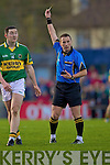 Daithi Casey of Kerry sees the yellow card against Cork in the Munster U21 Football Championship Final held on Wednesday night in Pairc Ui Rinn Cork.