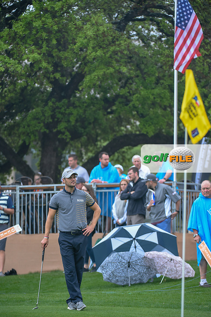 Martin Kaymer (GER) waits to putt on 18 during day 3 of the Valero Texas Open, at the TPC San Antonio Oaks Course, San Antonio, Texas, USA. 4/6/2019.<br /> Picture: Golffile | Ken Murray<br /> <br /> <br /> All photo usage must carry mandatory copyright credit (© Golffile | Ken Murray)