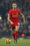 Jordan Henderson of Liverpool during the Premier League match at the Anfield Stadium, Liverpool. Picture date: November 26th, 2016. Pic Simon Bellis/Sportimage