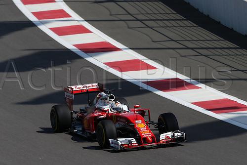 29.04.2016. Sochi, Russia.  FIA Formula 1 Grand Prix of Russia from the Sochi racetrack. Free practise Friday.  5 Sebastian Vettel (GER, Scuderia Ferrari)