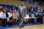 08 January 2015: Syracuse head coach Quentin Hillsman. The Duke University Blue Devils hosted the Syracuse University Orange at Cameron Indoor Stadium in Durham, North Carolina in a 2014-15 NCAA Division I Women's Basketball game. Duke won the game 74-72.