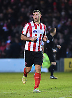 Lincoln City's Matt Rhead<br /> <br /> Photographer Andrew Vaughan/CameraSport<br /> <br /> The EFL Sky Bet League Two - Lincoln City v Notts County - Saturday 13th January 2018 - Sincil Bank - Lincoln<br /> <br /> World Copyright &copy; 2018 CameraSport. All rights reserved. 43 Linden Ave. Countesthorpe. Leicester. England. LE8 5PG - Tel: +44 (0) 116 277 4147 - admin@camerasport.com - www.camerasport.com