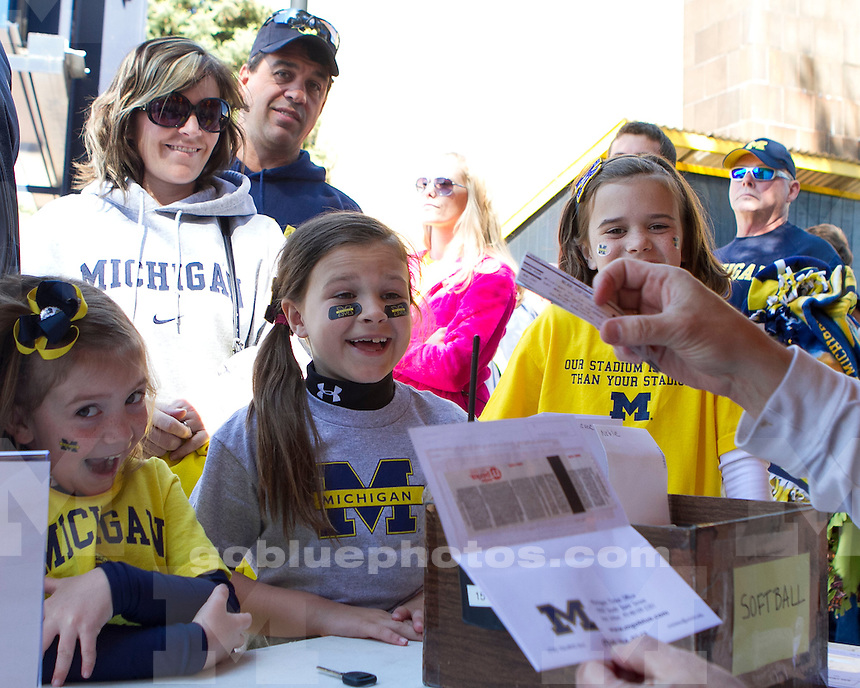 The University of Michigan women's softball team lost to Louisiana Lafayette, 5-0, in game two of the NCAA Super Regional at the Wilpon Complex in Ann Arbor Mich., on May 25, 2013.