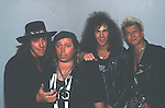 Ritchie Sambora, Sam Kinison, David Bryan & Billy Idol in 1988.