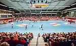 Eskilstuna 2014-10-03 Handboll Elitserien Eskilstuna Guif - Alings&aring;s HK :  <br /> Vy &ouml;ver Eskilstuna Sporthall med publik p&aring; l&auml;ktarna under matchen mellan Eskilstuna Guif och Sk&ouml;vde<br /> (Foto: Kenta J&ouml;nsson) Nyckelord:  Eskilstuna Guif Sporthallen IFK Sk&ouml;vde HK supporter fans publik supporters inomhus interi&ouml;r interior