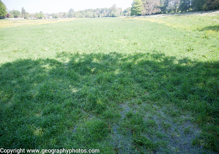 A winterbourne, a chalk valley feature of seasonal surface drainage, Orcheston, Wiltshire, England, UK
