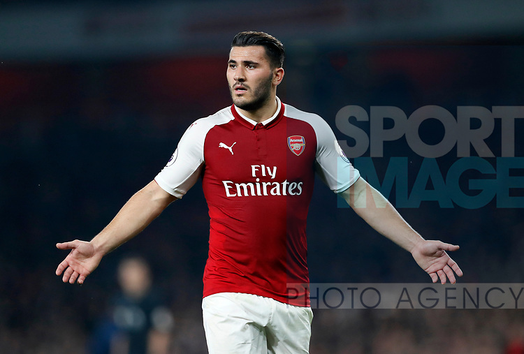 Arsenal's Sead Kolasinac in action during the premier league match at the Emirates Stadium, London. Picture date 25th September 2017. Picture credit should read: David Klein/Sportimage