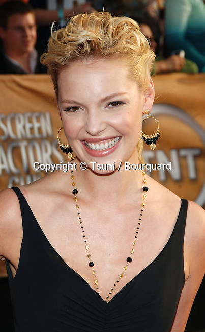 Katherine Heigl arriving at the 12th Annual Screen Actors Guild Awards at the Shrine Auditorium In Los Angeles, Sunday January 29, 2006