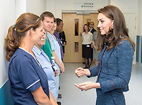 12 June 2017 - Princess Kate, Duchess of Cambridge and Team Leader Ellen at Kings College Hospital in south London to meet staff and patients who were affected by the terrorist attacks in London Bridge and Borough Market London. Photo Credit: ALPR/AdMedia