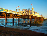 ENGLAND, Brighton, Sunset on the Pier