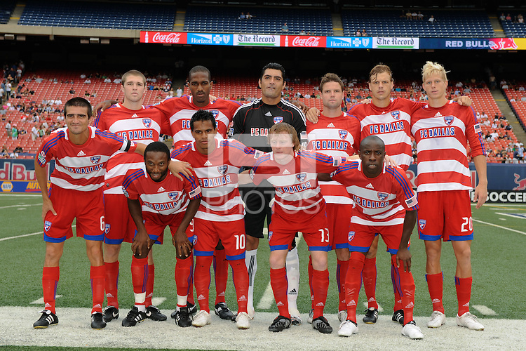FC Dallas starting XI. The New York Red Bulls defeated FC Dallas 3-2 during a Major League Soccer match at Giants Stadium in East Rutherford, NJ, on August 23, 2009.