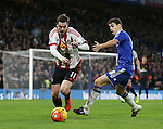 Chelsea's Oscar tussles with Sunderland's Adam Johnson<br /> <br /> Barclays Premier League- Chelsea vs Sunderland - Stamford Bridge - England - 19th December 2015 - Picture David Klein/Sportimage
