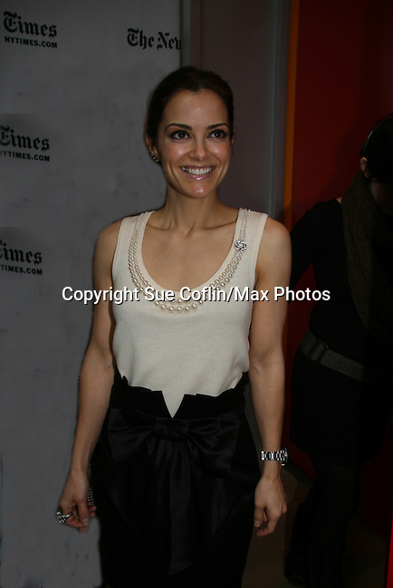 Rebecca Budig - All My Children at 40 celebrate on January 10, 2010 at the New York Times Arts & Leisure Weekend at the TimesCenter Stage, New York City, New York. (Photo by Sue Coflin/Max Photos)