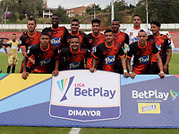 RIONEGRO-COLOMBIA, 01-03-2020: Jugadores de Envigado F.C., posan para una foto, antes de partido de la fecha 7 entre Rionegro Aguilas Doradas y Envigado F.C., por la Liga BetPlay DIMAYOR I 2020, jugado en el estadio Alberto Giraldo de la ciudad de Rionegro. / Players of Envigado F.C., pose for a photo, prior a match of the 7th date between Rionegro Aguilas Doradas and Envigado F.C., for the Liga BetPlay DIMAYOR I 2020, played at Alberto Giraldo stadium in Rionegro city. / Photo: VizzorImage / Juan Cardona / Cont.