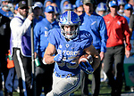 November 4, 2017:  Air Force running back, Tim McVey #33, breaks free for a long gain during the NCAA Football game between the Army West Point Black Knights and the Air Force Academy Falcons at Falcon Stadium, United States Air Force Academy, Colorado Springs, Colorado.  Army West Point defeats Air Force 21-0.