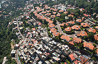 Rich and poor neighborhoods in Mexico City. Aerial photographs of Mexico city and the Estado de Mexico, Mexico