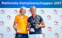 Etten-Leur, The Netherlands, August 26, 2017,  TC Etten, NVK, Winner Lady's 65+ Heleen Janssen-Prins (R) and runner up Anneke Jelsma-de Jong.<br /> Photo: Tennisimages/Henk Koster