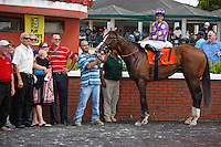 Fort Loudon(7) with Fernando Jara wins the G3 Carry Back Stakes at Calder Race Course, Miami Gardens Florida. 07-07-2012.  Arron Haggart/Eclipse Sportswire.