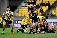 Highlanders' Aaron Smith in action during the Super Rugby - Hurricanes v Highlanders at Westpac Stadium, Wellington, New Zealand on Friday 8 March 2019. <br /> Photo by Masanori Udagawa. <br /> www.photowellington.photoshelter.com