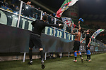 Inter players Samir Handanovic, Valentino Lazaro and Cristiano Biraghi throw their match shirts to the fans following the Coppa Italia match at Giuseppe Meazza, Milan. Picture date: 14th January 2020. Picture credit should read: Jonathan Moscrop/Sportimage