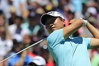 Jeunghun Wang (KOR) on the 1st tee to start his match during Friday's Round 2 of the 117th U.S. Open Championship 2017 held at Erin Hills, Erin, Wisconsin, USA. 16th June 2017.<br /> Picture: Eoin Clarke | Golffile<br /> <br /> <br /> All photos usage must carry mandatory copyright credit (&copy; Golffile | Eoin Clarke)