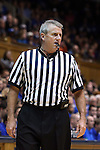 26 November 2014: Referee Bryan Kersey. The Duke University Blue Devils hosted the Furman University Paladins at Cameron Indoor Stadium in Durham, North Carolina in a 2014-16 NCAA Men's Basketball Division I game. Duke won the game 93-54.