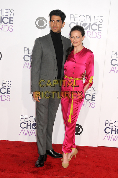 6 January 2016 - Los Angeles, California - Raza Jaffrey, Lara Pulver. People's Choice Awards 2016 - Arrivals held at The Microsoft Theater. <br /> CAP/ADM/BP<br /> &copy;BP/ADM/Capital Pictures
