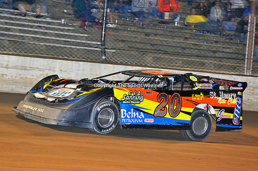 Sep 9, 2011; 10:52:10 PM; Rossburg, OH., USA; The 41st annual running of the World 100 Dirt Late Models racing for the Globe trophy at the Eldora Speedway.  Mandatory Credit: (thesportswire.net)