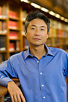 ©2009 David Burnett .represented by Cathy Saypol..August 19, 2009.New York, NY.NY Public Library.Author Chang-Rae Lee