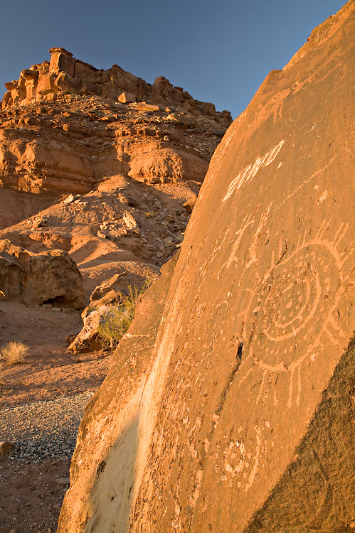 Petroglyphs from at least 3 different prehistoric cultures can be found on the giant boulders at the base of the Little Black Mountain at the Little Black Mountain Petroglyph Site