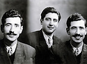 France 1950. Abdul Rahman Ghassemlou, in the middle,  and his brother Ahmed in Paris<br /> France 1950. Abdul Rahman Ghassemlou, au milieu, et son frere Ahmed a Paris