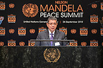 Opening Plenary Meeting of the Nelson Mandela Peace Summit<br /> <br /> His Excellency Dato' Saifuddin AbdullahMinister for Foreign Affairs of Malaysia