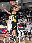 Alabama State Hornets forward Brittney Howard (35) in action during the SWAC Tournament game between the Southern Lady Jaguars and the Alabama State Hornets at the Special Events Center in Garland, Texas. Southern defeats Alabama State 58 to 39.
