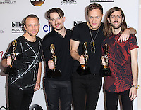 LAS VEGAS, NV, USA - MAY 18: Ben McKee, Daniel Platzman, Dan Reynolds, Wayne Sermon, Imagine Dragons in the press room at the Billboard Music Awards 2014 held at the MGM Grand Garden Arena on May 18, 2014 in Las Vegas, Nevada, United States. (Photo by Xavier Collin/Celebrity Monitor)