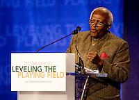 Desmond Tutu. The 2010 US Soccer Foundation Gala was held at City Center in Washington, DC.