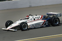 INDIANAPOLIS, IN - MAY 27: Bobby Rahal drives his March 84C 06/Cosworth during the Indianapolis 500 on May 27, 1984, at the Indianapolis Motor Speedway in Indianapolis, Indiana.