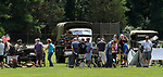 WOODBURY, CT - 06 AUGUST 2017 - 080617JW05.jpg -- Spectators walk among vehicles and weaponry Sunday afternoon during a U.S. Military History timeline event put on by Ray Manzi ay Hollow Park. Jonathan Wilcox Republican-American