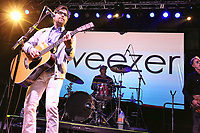 CHESTER, PA - DECEMBER 1 :  Weezer performing at Radio 104.5 Movember Gala at Harrahs Philadelphia in Chester, Pa on December 1, 2017  Credit: Star Shooter/MediaPunch