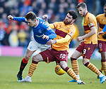 15.12.2019 Motherwell v Rangers: Ryan Jack and Liam Donnelly