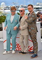 "CANNES, FRANCE. May 16, 2019: Elton John, Bernie Taupin & Taron Egerton at the photocall for the ""Rocketman"" at the 72nd Festival de Cannes.<br /> Picture: Paul Smith / Featureflash"