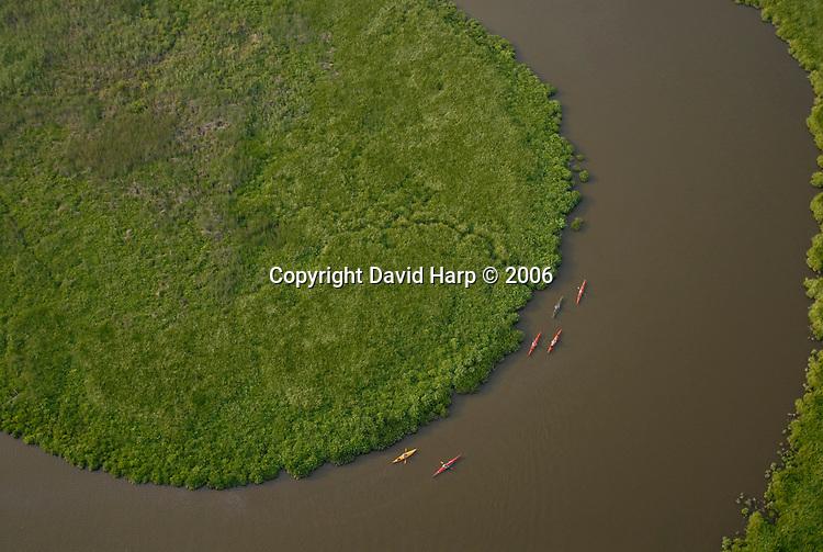 Kayakers on Barren Creek