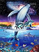 Interlitho, Lorenzo, REALISTIC ANIMALS, paintings, oceangalaxy 1(KL3875,#A#) realistische Tiere, realista, illustrations, pinturas ,puzzles
