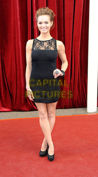 KARA TOINTON.'An Audience with Michael Buble' Red Carpet arrivals at the London ITV Studios, South Bank, London, England..May 3rd 2010.full length black dress sleeveless lace hand on hip.CAP/FIN.©Steve Finn/Capital Pictures.
